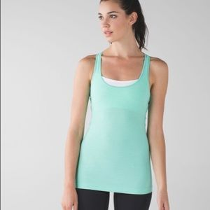 Lululemon Cool Racerback Heathered Menthol Size 4